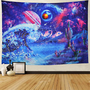 Heopapin Ocean Wave Tapestry Psychedelic Planet Mountain Wall Tapestry Trippy Ga