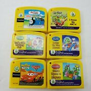Leap Frog My First Leappad 6 Game Lot Cars, Thomas The Train, Reading, Writing +