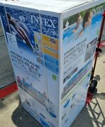 New, Intex 18 Ft X 48 In Prism Frame Pool Set. With Hydro Aeration Technology.