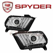 Spyder Auto Headlight Set For 2010-2014 Ford Mustang - Electrical Lighting Gd