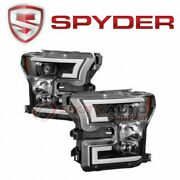 Spyder Auto Headlight Set For 2015-2017 Ford F-150 - Electrical Lighting Aq