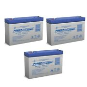 Power-sonic 6v 7ah Sla Replacement Battery For Camaro Style Ride On - 3 Pack