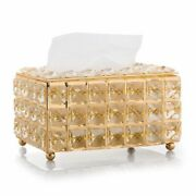 Crystal Cube Facial Tissue Napkin Box Holder Dispenser Home And Office Accessories