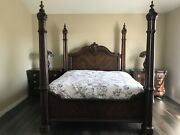 Bernhardt Collection Ca King Four-post Bed,armoire, Dresser, 2 Nightstands