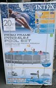 New Intex 20ft X 52in Prism Frame Above Ground Swimming Pool Set W/filter Pump