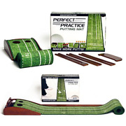 Perfect Practice Putting Mat- Indoor And Outdoor Golf Putting Mat With Auto Ball