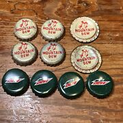 Lot Of 10 Mountain Dew Bottle Cap New And Used