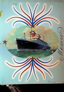 Ss America Captainand039s Dinner Menu United States Lines April 7 1954