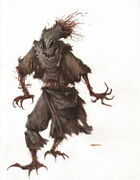 Dave Dorman Signed Adandd Tsr Original Art Painting Scarecrow For Monster Manual