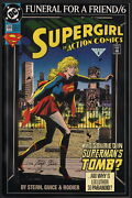Action Comics 686 Signed Roger Stern Collection / Funeral For A Friend Supergirl
