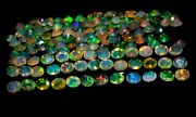 4x5 Mm Natural Ethiopian Opal Faceted Welo Fire Opal Lot Loose Gemstone 5x4 Mm