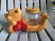 Winnie The Pooh Cookie Honey Collectible Disney Items Production Art Glass Jar