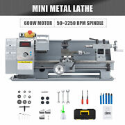 8x14 Inch 2500rpm Mini Metal Lathe W 600w Brushed Motor 4 3-jaw Chuck And More