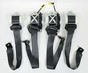 2010-2015 Chevrolet Camaro Ss Coupe Black Seat Belt Set Front And Rear Used Oem Gm