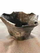 Banko Pottery Wantonness-shaped, A Bowl Snipe Figure Container An Original