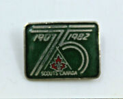Scouts Canada 1907-1982 75 Years Collectible Pin Label Pinback Button Vintage