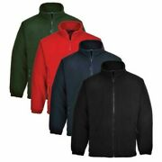 Portwest Argyll Heavy Fleece Jacket Thermal Insulated Zip Jumper Anti Pill
