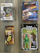 Collectible Toy Lot Star Wars, Hot Wheels, Funko, And Pokémon Evolutions Cards