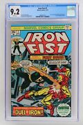 Iron Fist 1 - Marvel 1975 Cgc 9.2 Story Continued From Marvel Premiere 25. Iro