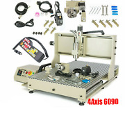 Usb 4 Axis 6090 Cnc Router Engraving Machine Engraver Milling Metal + Remote