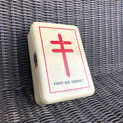 Antique 1930s Medical Wall Mount First Aid Kit