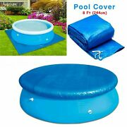 8 Ft Above Ground Swimming Paddling Pool Cover Round Safety Solar Protector Tarp