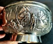 Antique Chinese Silver Export Bowl - Wo Ching - Shanghai - Nice Detail - Lovely