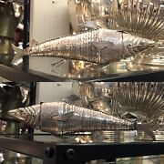 Antique Solid Silver Snuff Box Or Spice Case In The Style Of Large Fish Figure