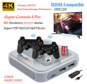 Super Console X Pro Retro 4k Wifi Hdmi Tv Video Game Console For Ps1/n64/dc/nds