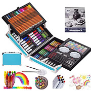 Kinspory Art Supplies Case, 139 Pack Arts Crafts, Painting, Coloring, Drawing And