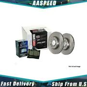 1x Front And Rear Centric Parts Disc Brake Pad And Rotor Kit For 2008-2012 Jeep