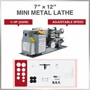3/4 Hp 7x12 Inch 2250rpm Mini Metal Lathe W 3-jaw Chuck For Metalwork And More