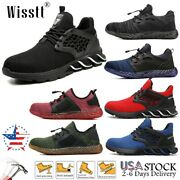 Men's Steel Toe Work Safety Sport Shoes Protective Light Hiking Mesh Sneakers