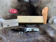 1994 Case Xx Custom Shop Fixed Blade Stag Knife With Sheath And Coa Mint In Box ++