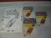 Swing With Scooter 25 Cover Art + Painting + Approval 1969 Snowmobile Sled Snow