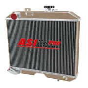4 Row All Aluminum Radiator For 1941-1952 Jeep Willys Mb/cj-2a/m38 And Ford Gpw