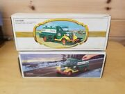Qty 2-first Hess Truck Toy Bank 1985andfirst Hess Truck 1982red Switch W/bxs1