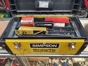 Simpson Strong-tie Powder Actuated Tool Gun Ptp-27alx W/ Accessories