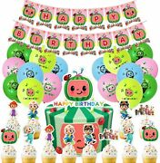 Wholesale Lot Qty 10 Cocomelon Birthday Supplies 42 Pieces Party Decorations