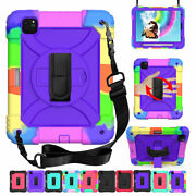 For Ipad Pro 11 2020/2018 Shockproof Case Rubber Pc Cover With Shoulder Strap