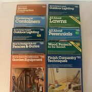Lot Of 9 Ortho Books / Home And Garden How-to Manuals / Construction And Lawn Guides