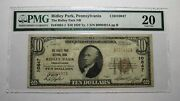 10 1929 Ridley Park Pennsylvania Pa National Currency Bank Note Bill 10847 Vf20