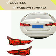For Nissan Altima 2019-2021 Taillights Assembly Turn Signal Led Light Red