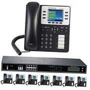 8-line Business Phone System Enhanced Pack With Auto Attendant 8 Phone Bundle