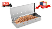 Stainless Steel Bbq Grill Smoker Box Gas , Charcoal Grill For Wood Chips Smoking
