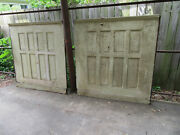 2 Pieces Antique Oak Paneling Wainscoting 100 Inches By 54 Tall Salvage