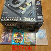 Nintendo Gamecube Black Console 1 Controller With Game Boy Player Startup Disk