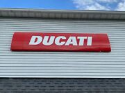 Official Factory Ducati Motorcycle Dealer Lighted Building Sign 3and039 X 12and039