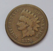 1876 U.s. Indian Head Penny - Good Condition