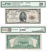 1929 5 First National Bank And Trust Of Camden Ny 2448 Pmg Very Fine-20
